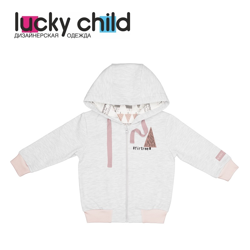 Hoodies & Sweatshirts Lucky Child for girls and boys 62-17f Cardigan Sweatshirt Kids Coat Children clothes