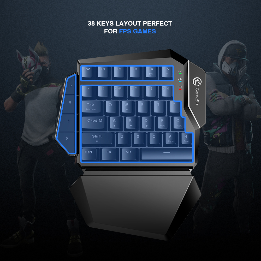 GameSir Z2 Gaming 2.4GHz Wireless Keypad and DPI Mouse Combo One-handed Keyboard For Android/iOS/Windows For PUBG FPS Games 2