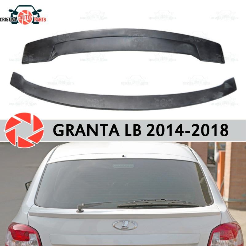 Спойлер для Lada Granta Liftback 2014 2018 спойлер на заднее окно пластик ABS украшение багажника Аксессуары для двери автомобиля Стайлинг