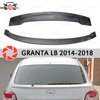Spoiler for Lada Granta Liftback 2014 2018 spoiler on rear window plastic ABS decoration trunk door accessories car styling