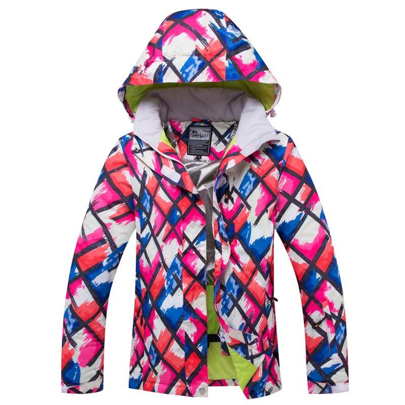 2019 femmes veste de Ski Super chaud vêtements hiver manteau coupe-vent imperméable respirant en plein air Sport porter Ski Snowboard veste