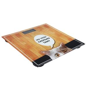 Image 4 - bathroom cool scale floor electronic for measuring weight funny cat glass sclaes for humans