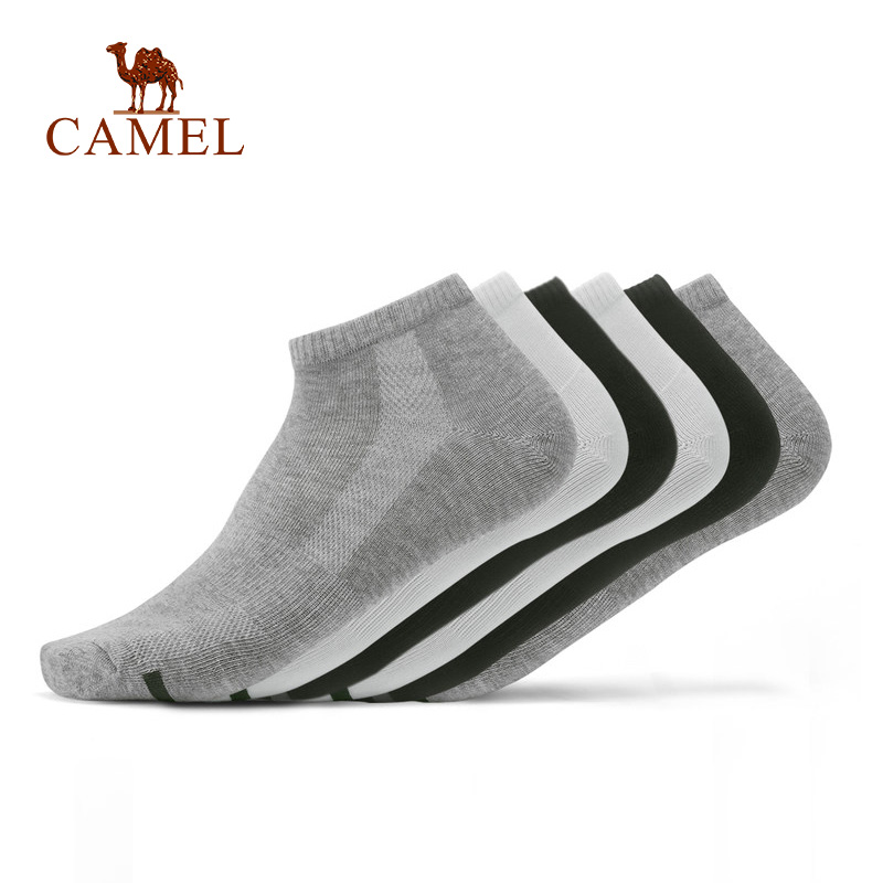 CAMEL 5+1 Pairs/lot Men Cotton Socks Sport Casual Business Anti-Bacterial Deodorant Breathable Outdoor Running Basketball Sock