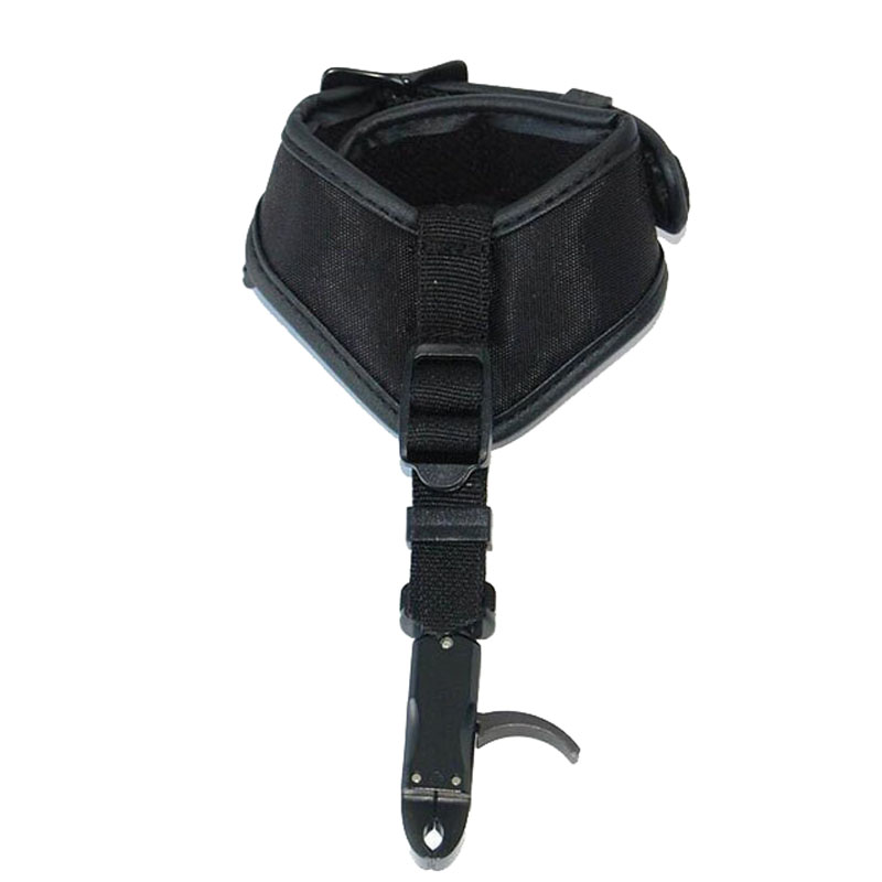 Compound Bow Caliper Release Hunting Shooting Trigger with Buckle Wrist Strap Left and Right Hand Waist Release