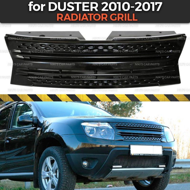 Radiator grill with strips for Renault Dacia Duster 2010 2017 ABS plastic body kit aerodynamic decoration