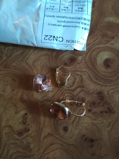 6 Color Crystal Fashion Earrings photo review