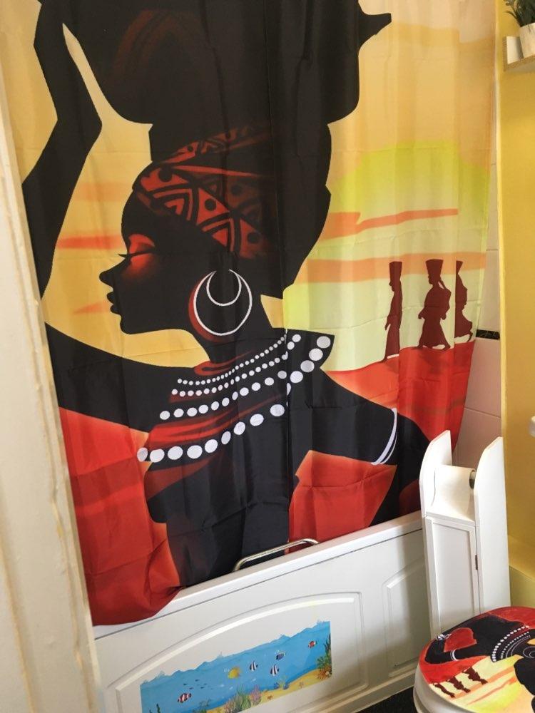 Cortinas de chuveiro conjunto conjunto mulheres