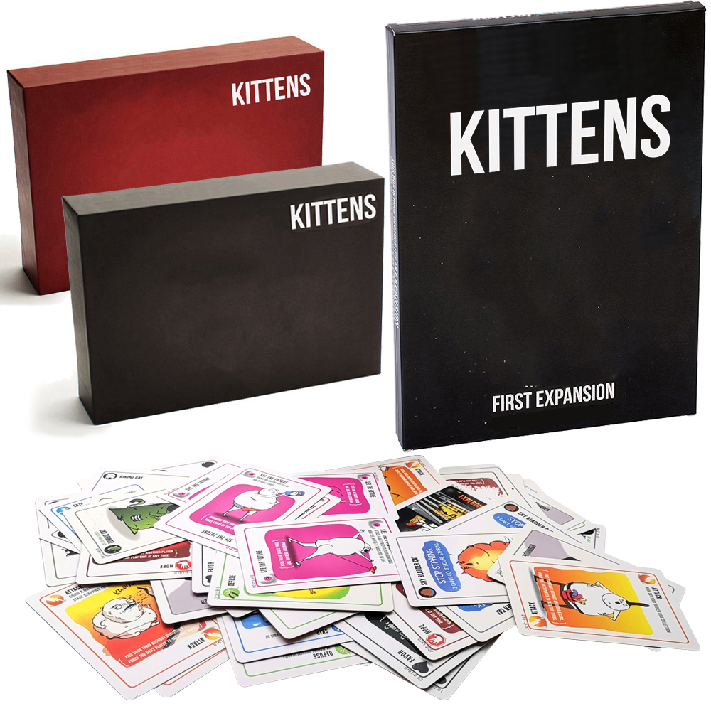 Billede af Explode Board Games For Kittens Original Edition Card Game NSFW Edition Red Cat Black Cat Family Party Strategy Toys Wholesale