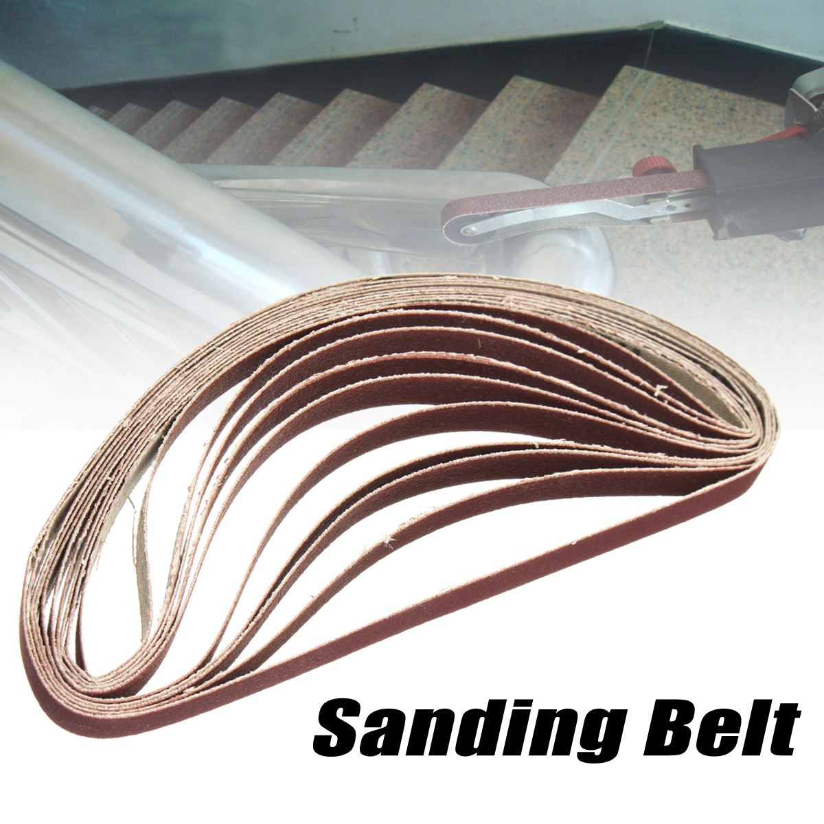 10Pcs/set 10x330mm Grinding Belts Sanding Belt Grit 60 120 240 400 For Flush Belt Machines Polishing Grind Machine Sander Tools