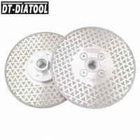 DT DIATOOL 2pcs 125mm Electroplated Diamond Cutting Disc Grinding Wheel Double Side Coated Granite Marble M14