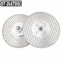 ДТ-DIATOOL 2шт 125мм гальваническим Алмазный отрезной диск шлифовальный двойной сторона с покрытием из гранита мрамора М14