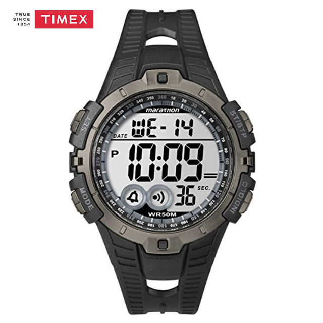 8994fec7bb17 Timex Men Watch T5K802 Chronograph Resin Strap Watch Quartz Marathon Alarm  Men s Watches