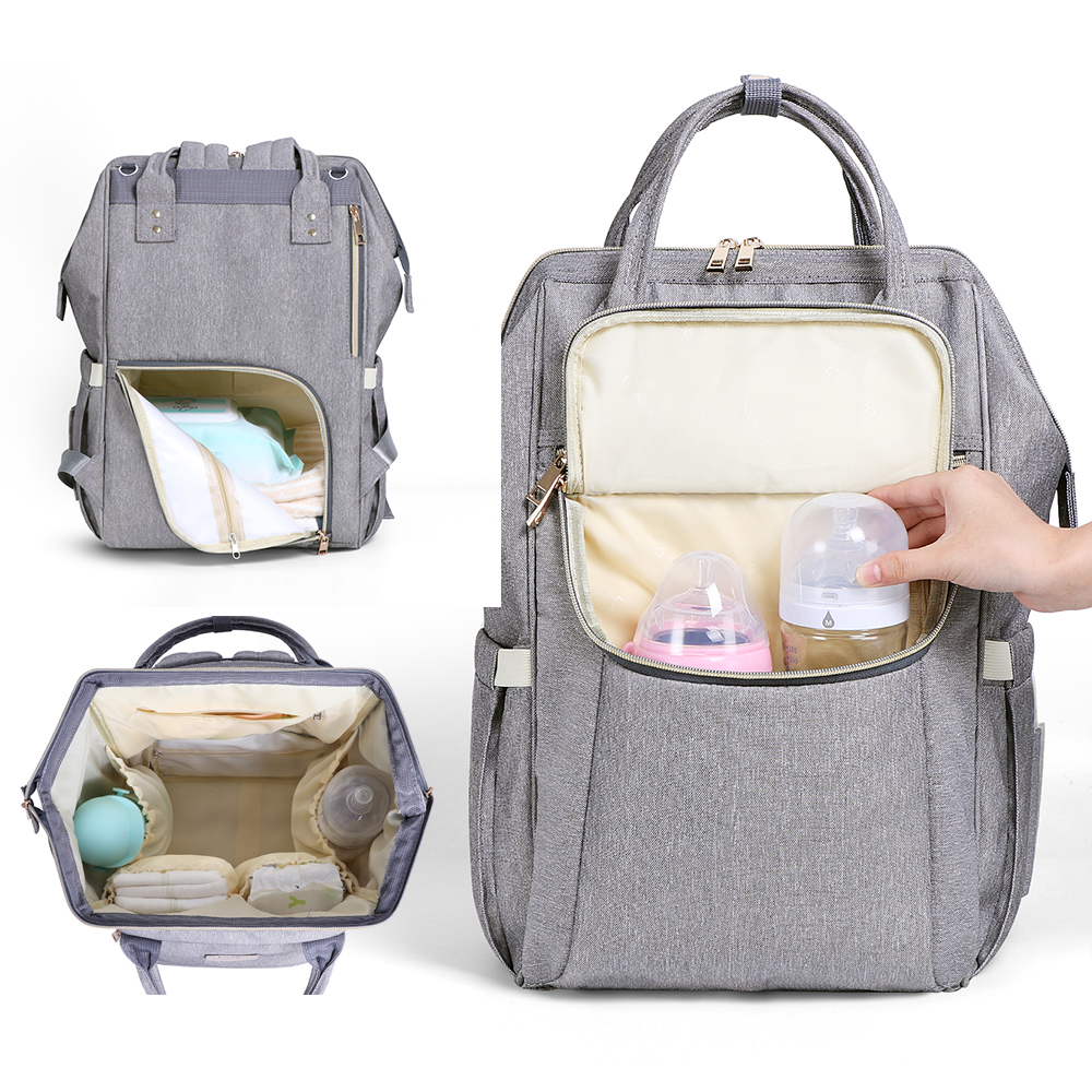 LAND Double Shoulder Diaper Bag Large Waterproof Nursing Bag Travel Backpack Baby Stroller Bag Nursing Mummy Bag for Baby Care 1 18 diecast model for toyota gt86 orange coupe suv alloy toy car collection gifts gt 86