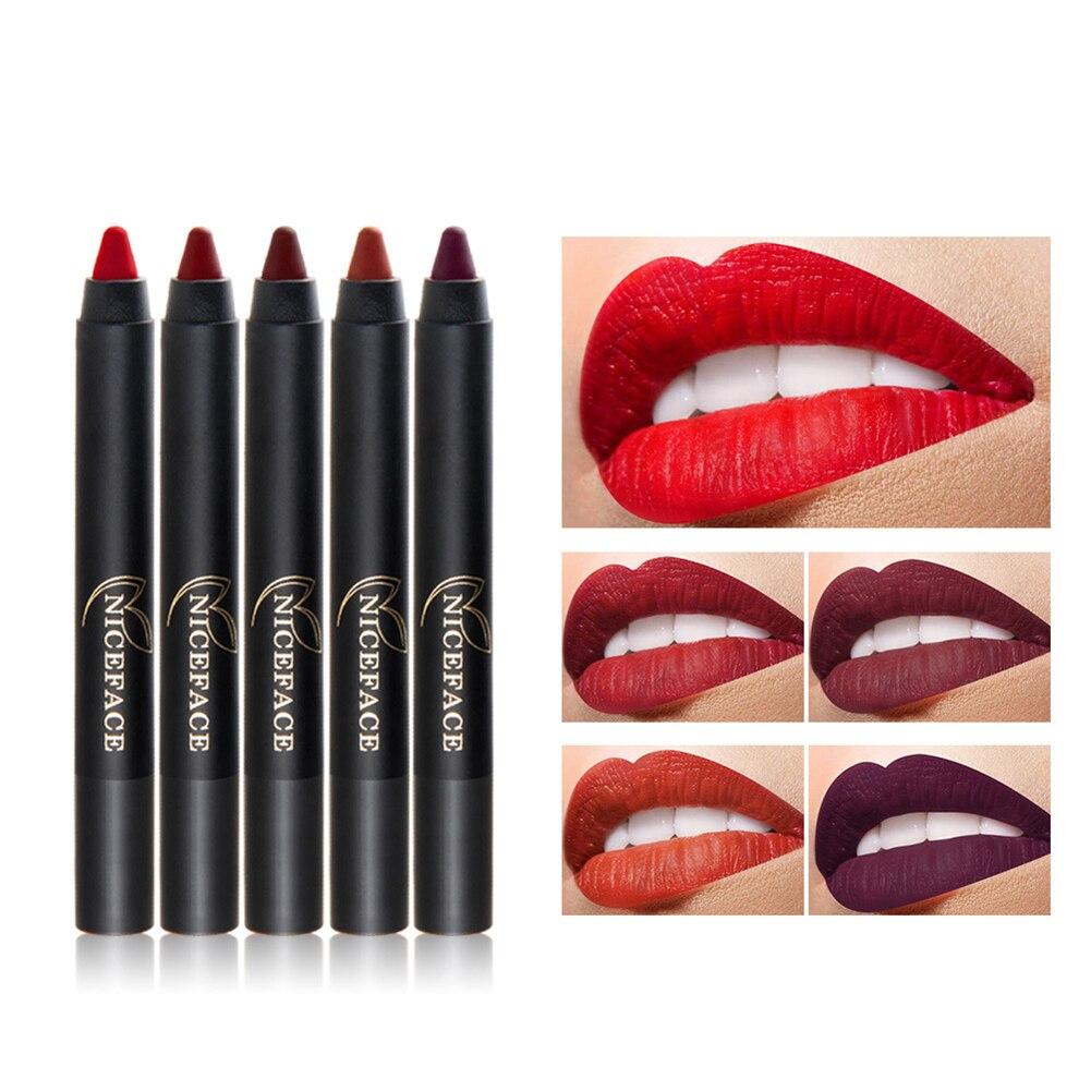 Матовая Губная помада карандаш заточки Lip Crayon Для женщин Косметическая длительный Макияж
