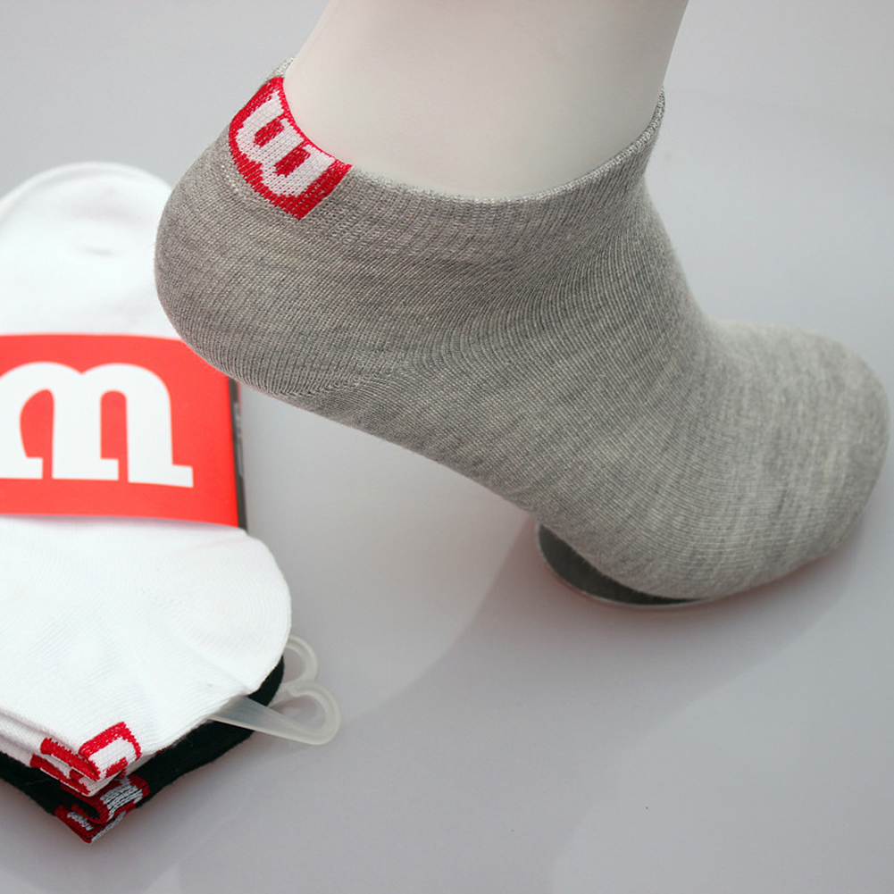 Men Socks Cotton Boat Socks Towel Bottom Socks Short Tube Concise High Quality M Socks(China)