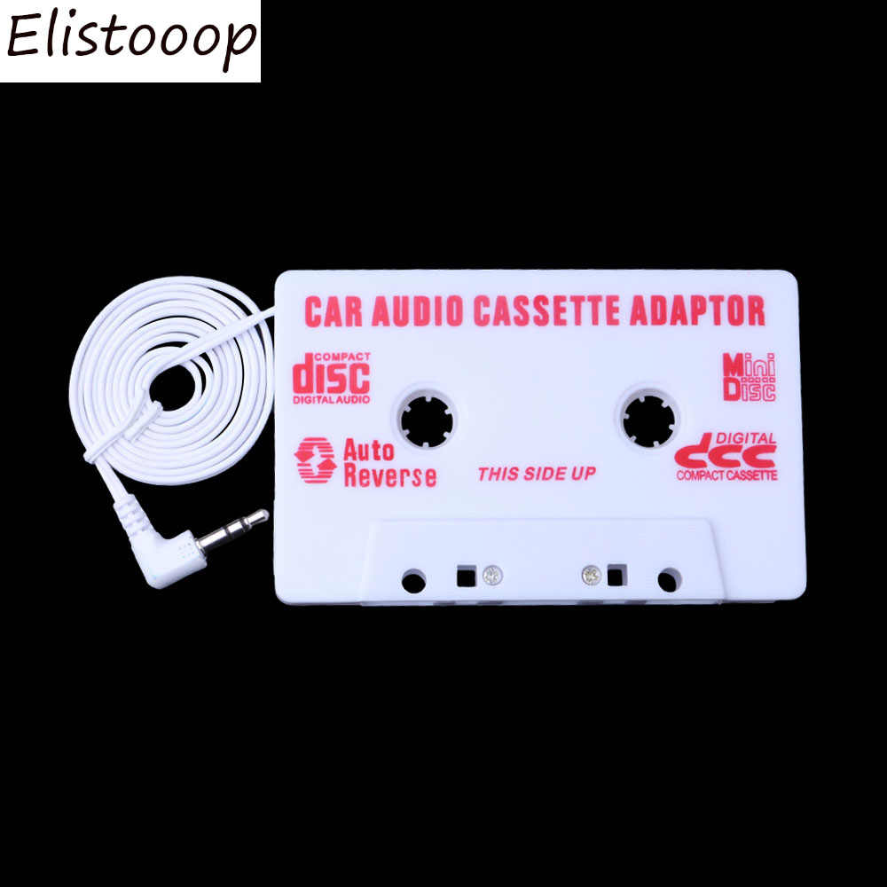 Elistooop AUTO Universele Auto Cassette Audio Adapter Stereo Converter Voor Iphone Ipod MP3 AUX CD 3.5mm Auto -styling