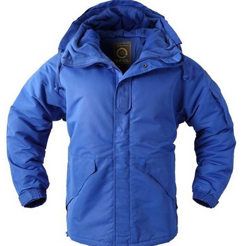 New Southplay Men s Blue Color Warming Waterproof 10 000mm Outerwear Hood Double Closed Jacket