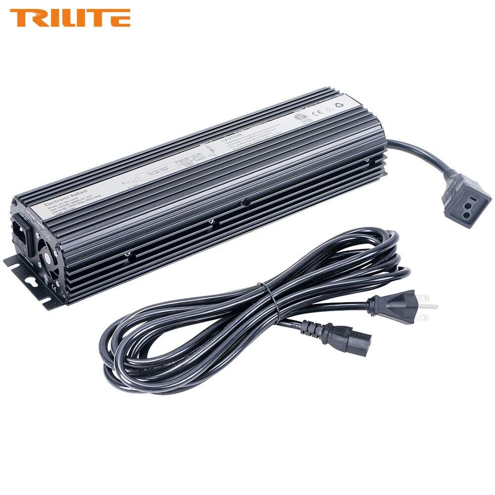 TRILITE US modèle HPS/MH se développent Ballast léger 1000 W hydroponique Dimmable numérique ventilateur refroidi électronique 1000 watts Ballast