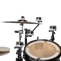 New Adjustable Instrument Music Jam Mount For GoPro Hero 5 3 4 SJCAM Yi 4k H9