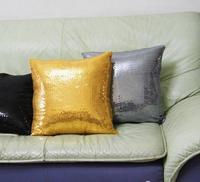 43cm Creative Gold Silver Red Grey Black Sequins Cushion Cover Decorative Pillow Case Glitter Lumbar Pillow
