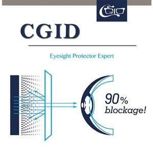Image 4 - CGID TR90 ordinateur lunettes Anti rayons bleus rayonnement optique impression lunettes carré oeil PC lunettes cadres hommes et femmes CT46