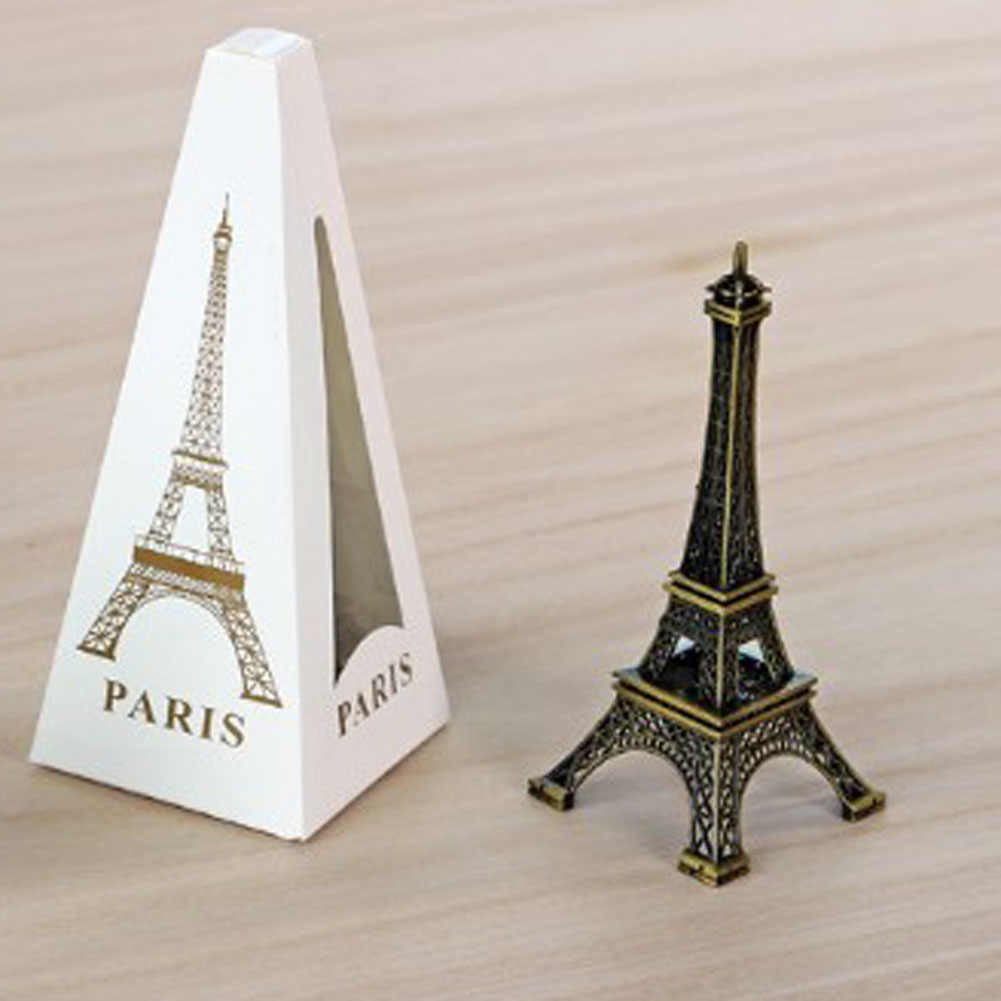 Metal Art Crafts Paris Tower Model Figurine Zinc Alloy Statue Travel Souvenirs Creative Gifts 8/10/13/15/18/22cm