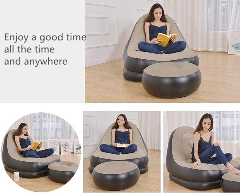 Складной надувной диван ленивый человек для отдыха на открытом