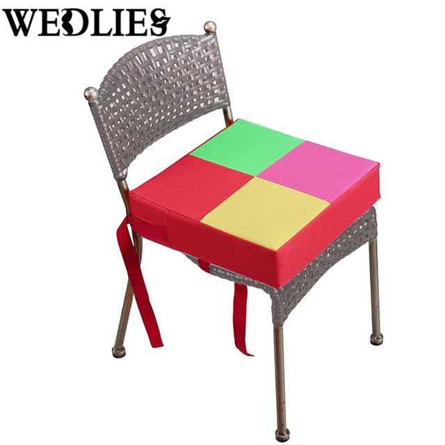 Square Adjustable Seat Cushion Removable Children Dining Increased Pad Baby  Booster Cushion Kids Home Dining Chair