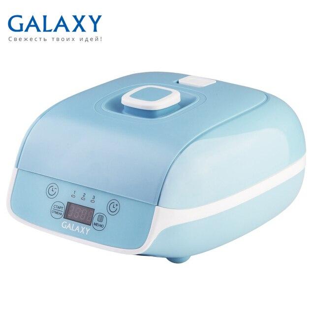 Йогуртница Galaxy GL 2693 (Мощность 20 Вт, 9 емкостей с крышками общим объемом 0.9 л, LED-дисплей, таймер)