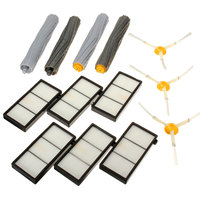 New 13Pcs Tangle Free Debris Extractor Hepa Filter Side Brush Replacement Kit For I Robot R