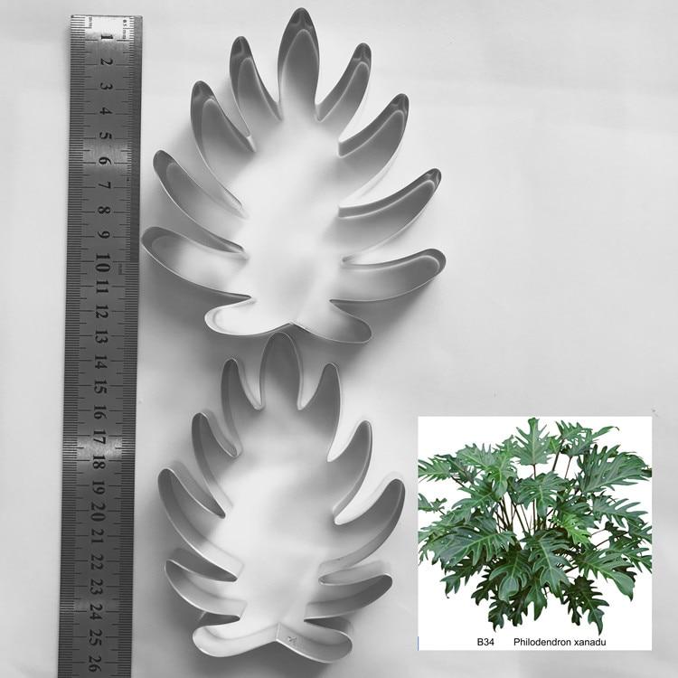 Филодендрон xanadu лист полный набор фрез, каттеры для мастики, цветок резак, глина инструменты, глина фрезы