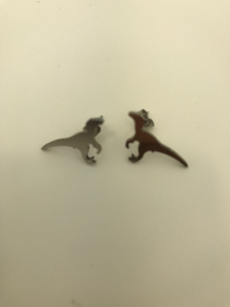 9f638041b 12 reviews for Female Stainless Steel Dinosaur Stud Earrings