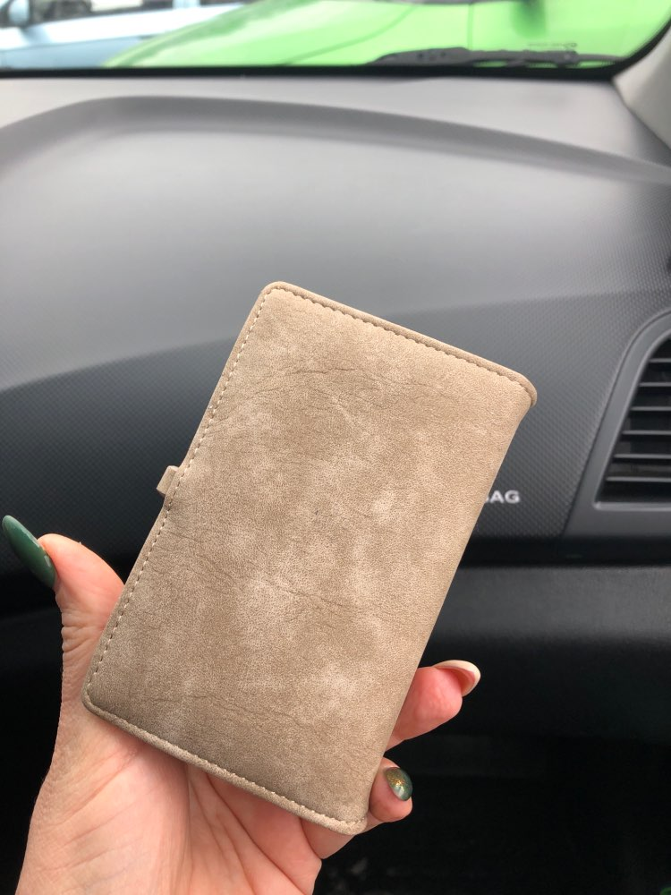 20 Cards Short Scrub Women Ladies Female Leather Business ID Credit Card Holders Portefeuille Femme Billetera Mujer 45 photo review