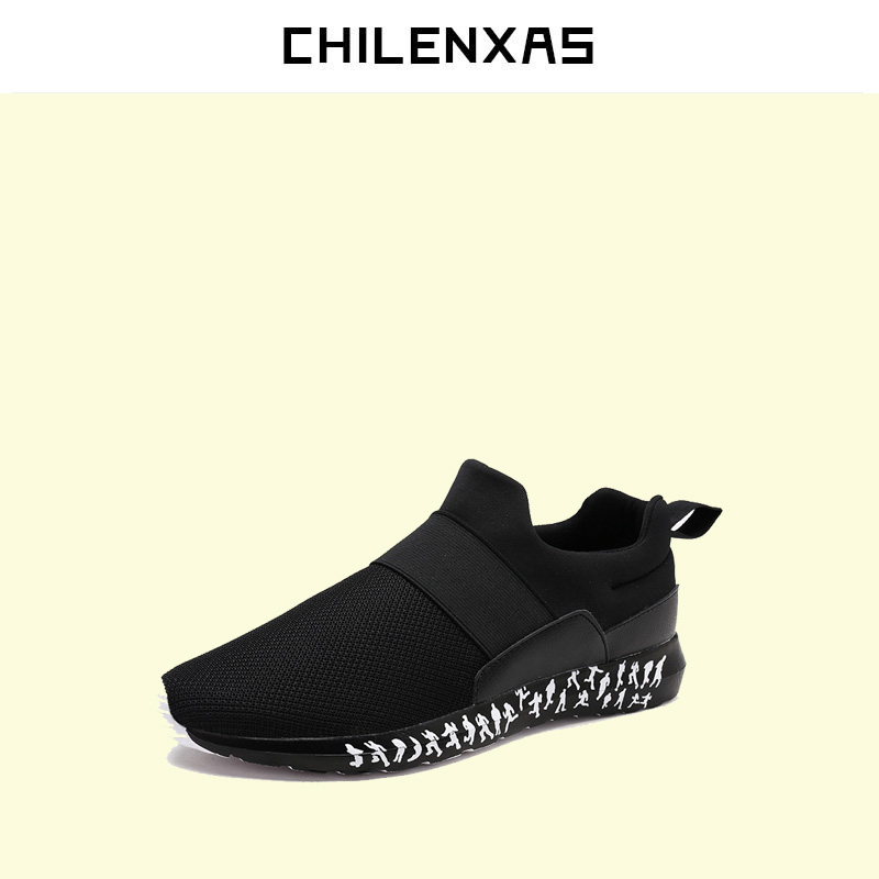CHILENXAS 2017 Summer New Fashion Air Mesh Shoes Men Casual Footwear Breathable Slip-on Light Loafers Round Toe Sweat-Absorbant new 2017 men s genuine leather casual shoes korean fashion style breathable male shoes men spring autumn slip on low top loafers