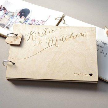 Kişiselleştirilmiş Adı Ve Tarih Kaligrafi Ziyaretçi Defteri Alternatifleri-Kazınmış Düğün Ziyaretçi Defteri-Rustik Ahşap Ziyaretçi Defteri-Fotoğraf Albümü