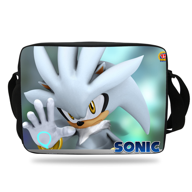Popular Chiristmas Gift Cartoon Print Messenger Bag For Girls Sonic Shoulder  Bag For School Boys Kids