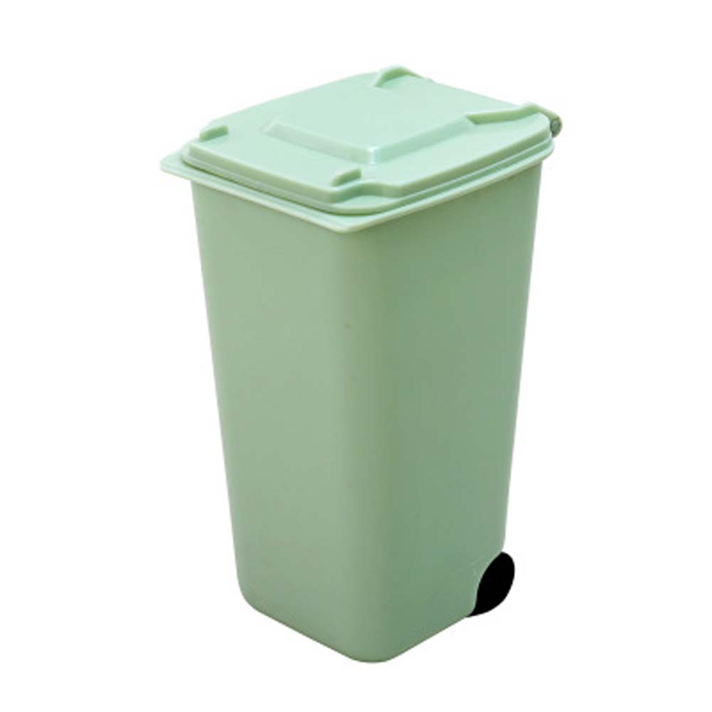 Creative Plastic Desktop Flip Trash Fashion Mini Desktop Garbage Cans Storage Barrels Home Health Barrels