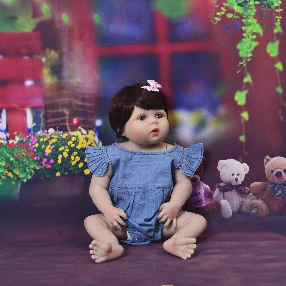 Nuovo Bebes Reborn Bambola 23 ''57 centimetri In Silicone Morbido Bambole Del Bambino Rinato Adorabile Realistico Bambini Della Principessa Della Ragazza Regalo Di Compleanno giocattolo-in Bambole da Giocattoli e hobby su  Gruppo 1