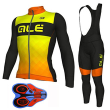 ALE Cycling Jersey Ciclismo Ropa Ciclismo Cycling Men's MTB Cycling Clothing Long Sleeve Bicycle Jerseys Bike Jacket Top Outdoor