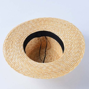 Image 5 - שמש כובע לנשים Wide ברים קש מגבעת כובע אלגנטי שחור לבן תחרה שטוח חוף כובע גבירותיי קיץ כובע עבור חופשה כנסיית דרבי