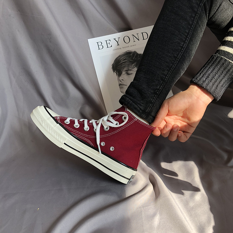 classic shoes high top Canvas Shoes Women Breathable Comfortable Fashion Flat Student Casual Shoes