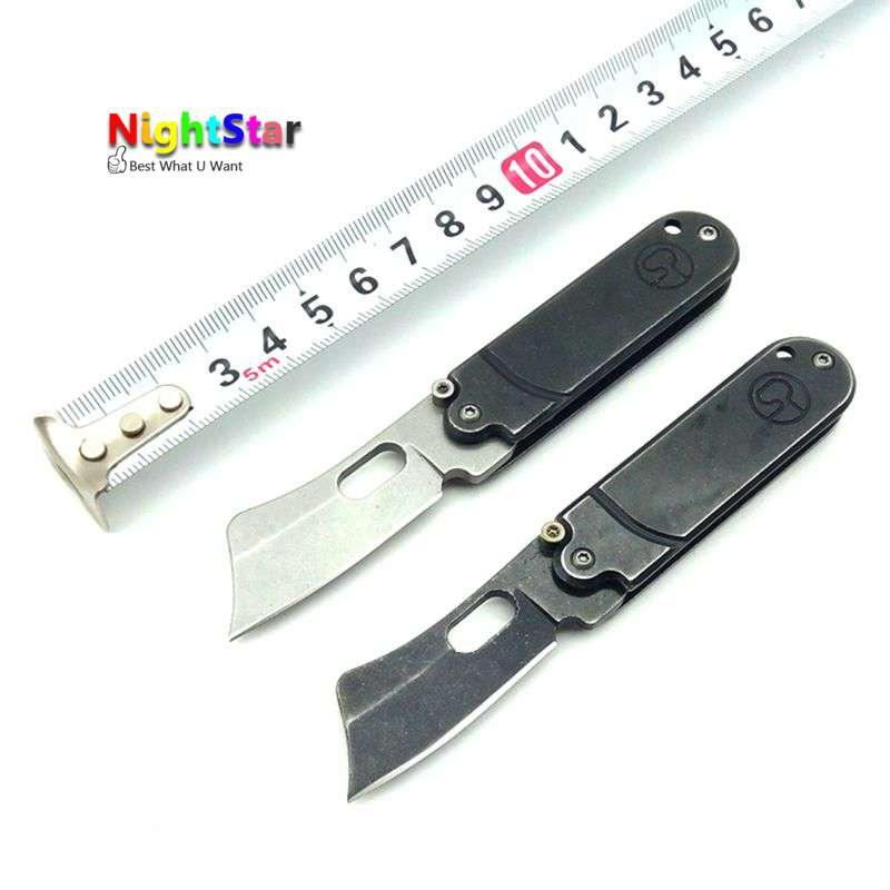 Klappmesser 5CR15MOV Edelstahl Klinge Outdoor Camping Messer Multifunktionsmesser Werkzeug 57HRC/Zufällige Farbe