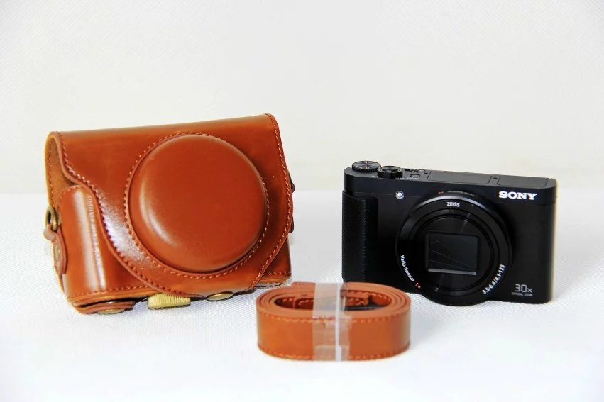 NEW Camera Leather case cover for sony hx90/wx500 PU camera bag with Strap