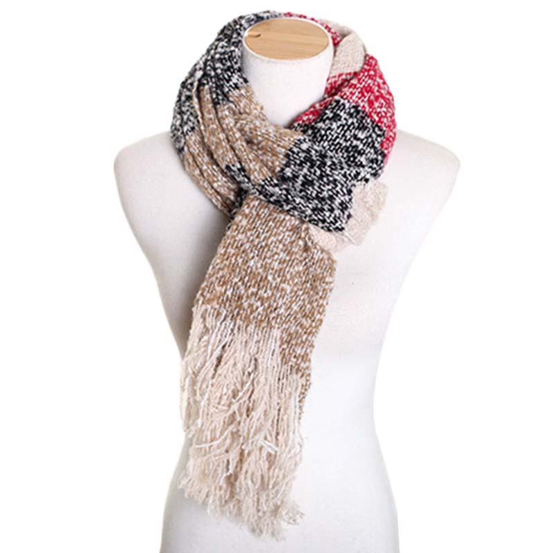 2017 Women Winter Mohair Scarf  Long Size Warm Fashion Scarves & Wraps For Lady Casual Patchwork Accessories