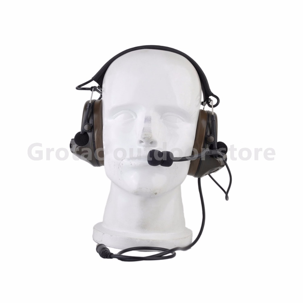 Tactical comtac headphone Comtac II Headset Airsoft Paintball Hunting Headset Style Active Noise Canceling Headphone цена 2017