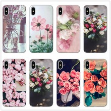 Silicone Soft For Case iphone 6s 6 7 8 SE 5S 5 Flowers Floral TPU Ultra Thin Rose Plant Peony love Tree Cover For iphone 8 plus