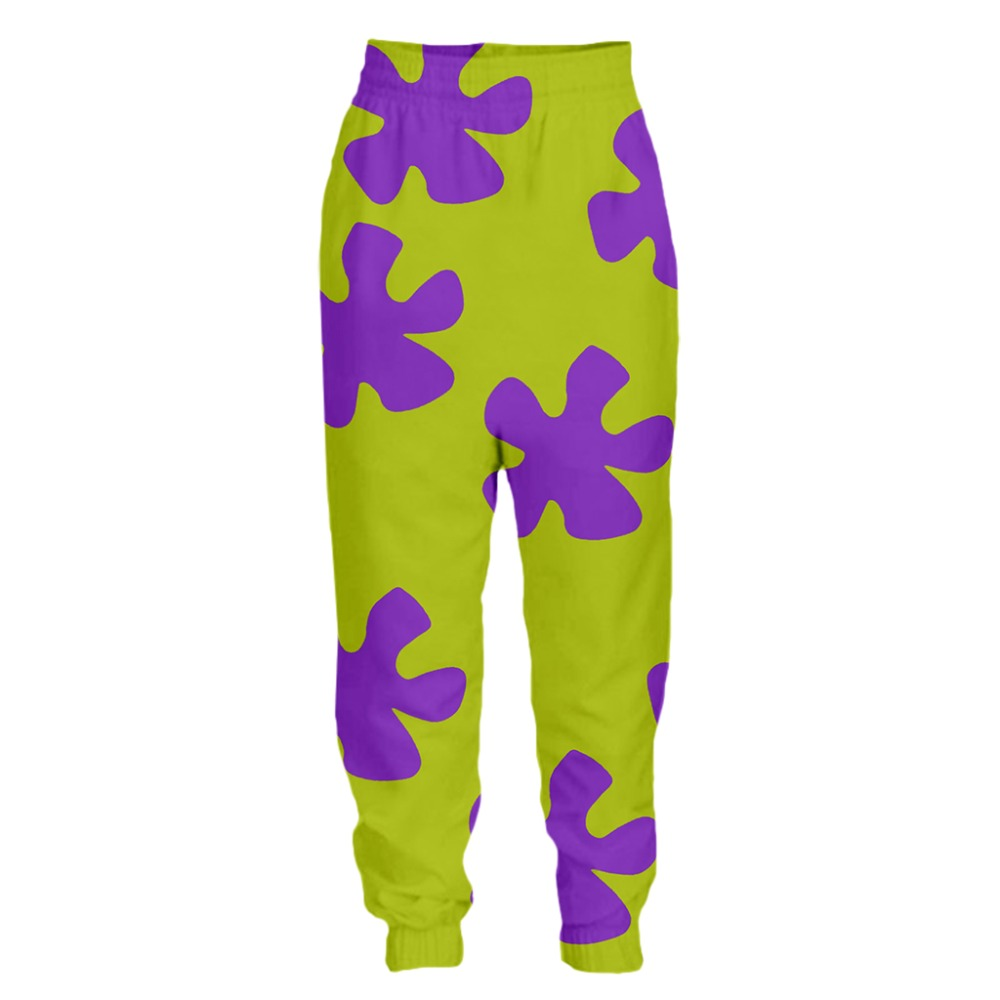 YX Girl 2019 New Fashion Pants 3d Print Hot Patrick Star Sweatpants For Men Women Casual joggers Fitness Drop Shipping