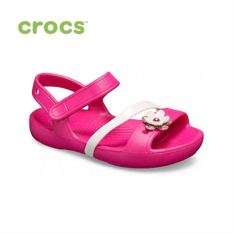 CROCS Crocs Lina Charm Sandal K KIDS or boys/for girls, children, kids TmallFS shoes
