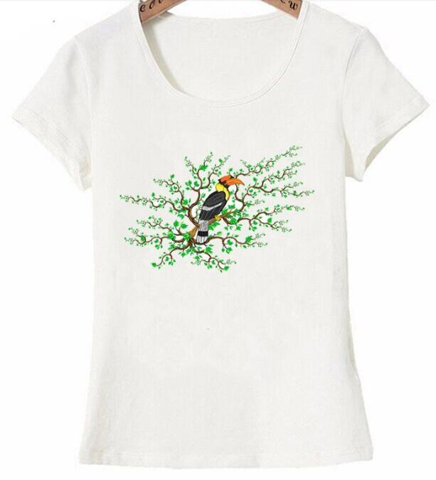 nouveau mode t femmes manches courtes gardien de la for t tropicale imprim T Shirt dr