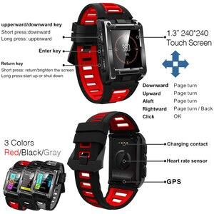Image 2 - Makibes G08 1 Jahr Garantie GPS Uhr Kompass Armbanduhr Bluetooth Smart Uhren Wasserdicht Herz Rate Multi sport Doppel Elf